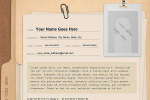 """Manila Folder"" Template Resume"