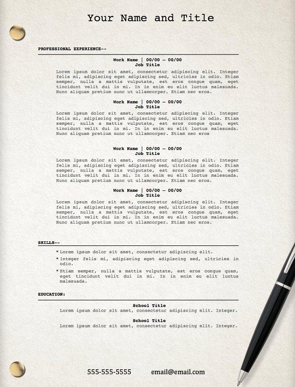 movie script template resume resume templates creative market