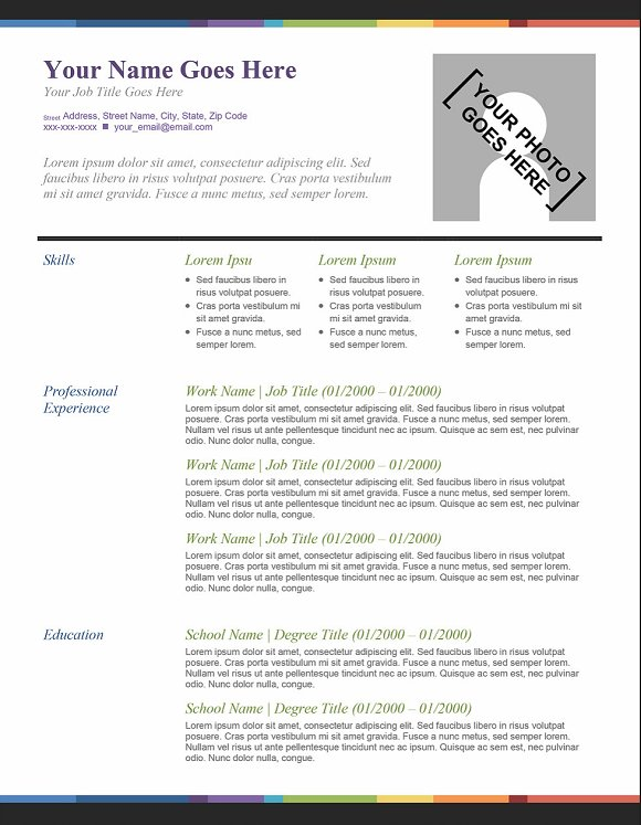 splash of color template resume resumes - Resume Template Color