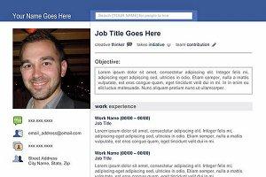"""Social Media"" Template Resume"