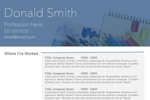 """Steel Corners"" Template Resume"