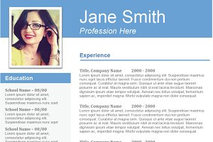 """The Professional"" Template Resume"