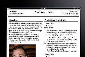 """Tablet"" Template Resume"