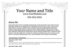 """Wedding"" Template Resume"