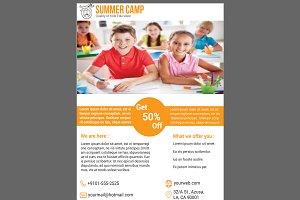 Summer Camp School Admission Flyer