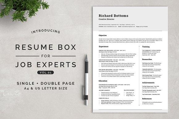 Resume Box for Job Experts Vol.1