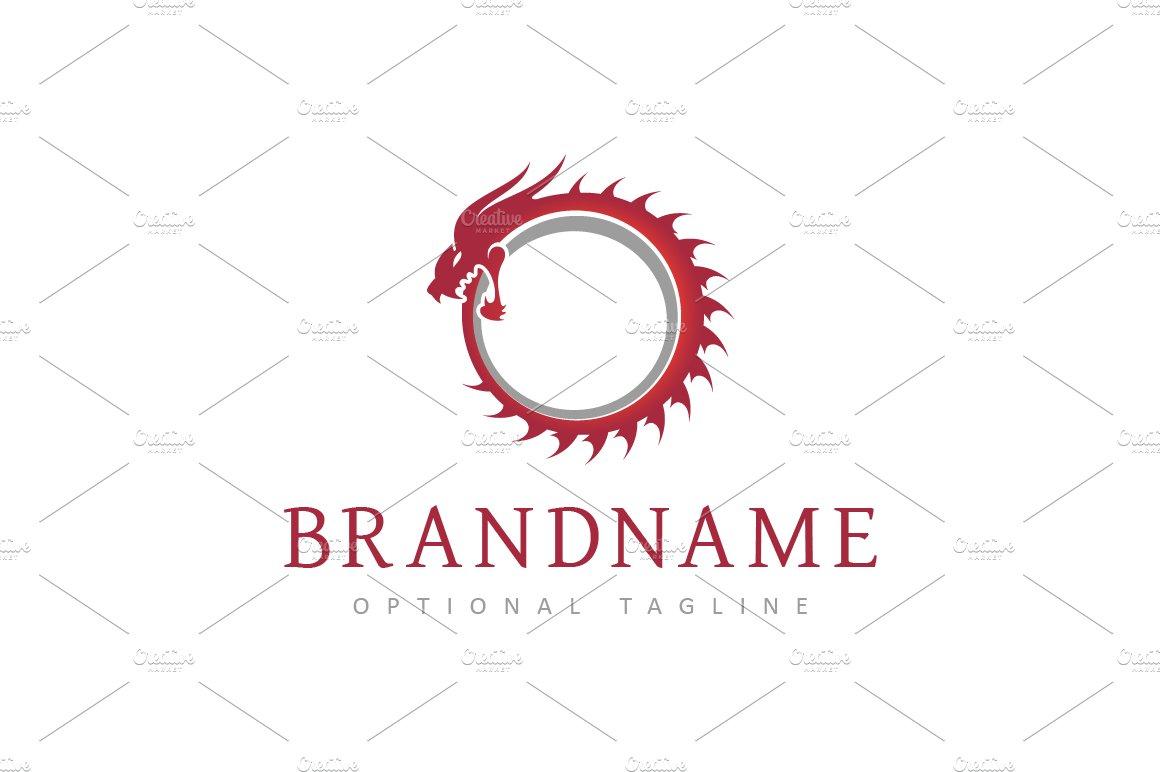 Ouroboros Dragon Logo Logo Templates Creative Market