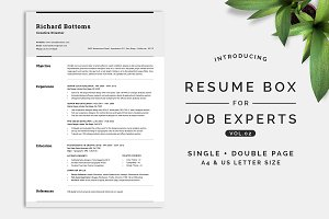 Resume Box for Job Experts Vol.2