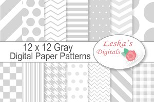 Digital Paper - Grey, Gray