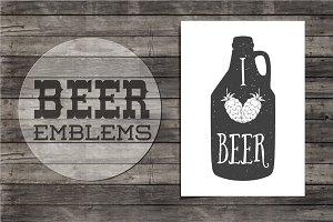 Beer emblems.