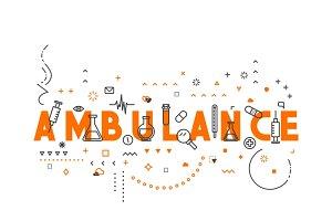 Medicine concept banner in line