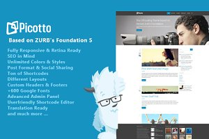 Picotto - Responsive Wordpress Theme
