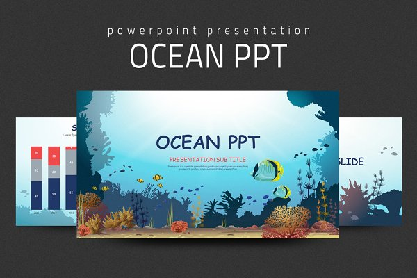 Ocean Ppt Psd Template Free 751632 Psd Mockup Templates Creative Best Design For Download