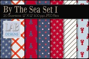 20 Nautical Fabric Textures Set I