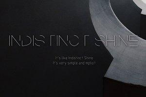 Indistinct Shine-Concise font