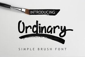 Ordinary Brush Font