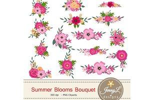 Pink Floral Bouquet Clipart