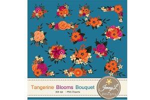 Tangerine Floral Bouquet