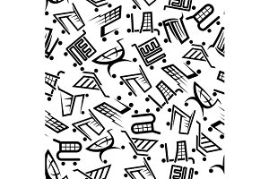 Shopping seamless pattern