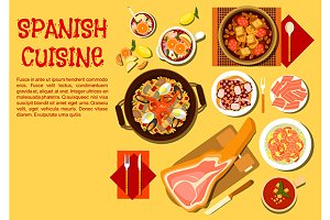 Spanish seafood cuisine