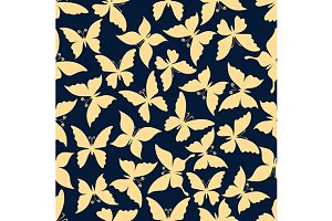 Butterflies romantic pattern