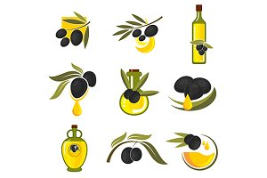 Spanish black olives symbols