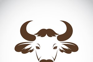 Vector images of bison head
