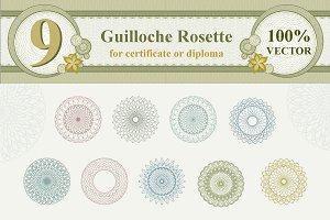 Guilloche Rosette