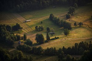 Slovenian countryside in the morning