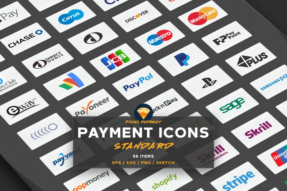 PAYMENT / CREDIT CARD VECTOR ICONS S ~ Web Elements ~ Creative Market