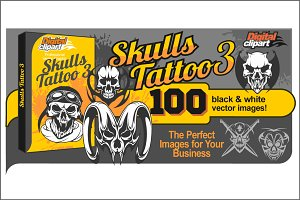 Skulls Tattoo 3 - 100 vector images