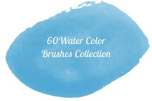 60 Water Color Brushes Collection