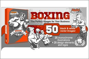 Boxing Vector Clipart