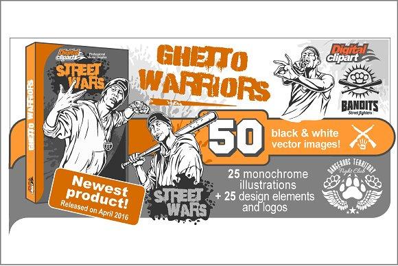 Ghetto warriors vector clipart illustrations creative market ghetto warriors vector clipart sciox Gallery