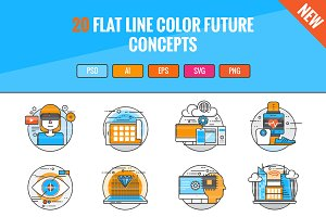 20 Flat Line Color Future Concepts