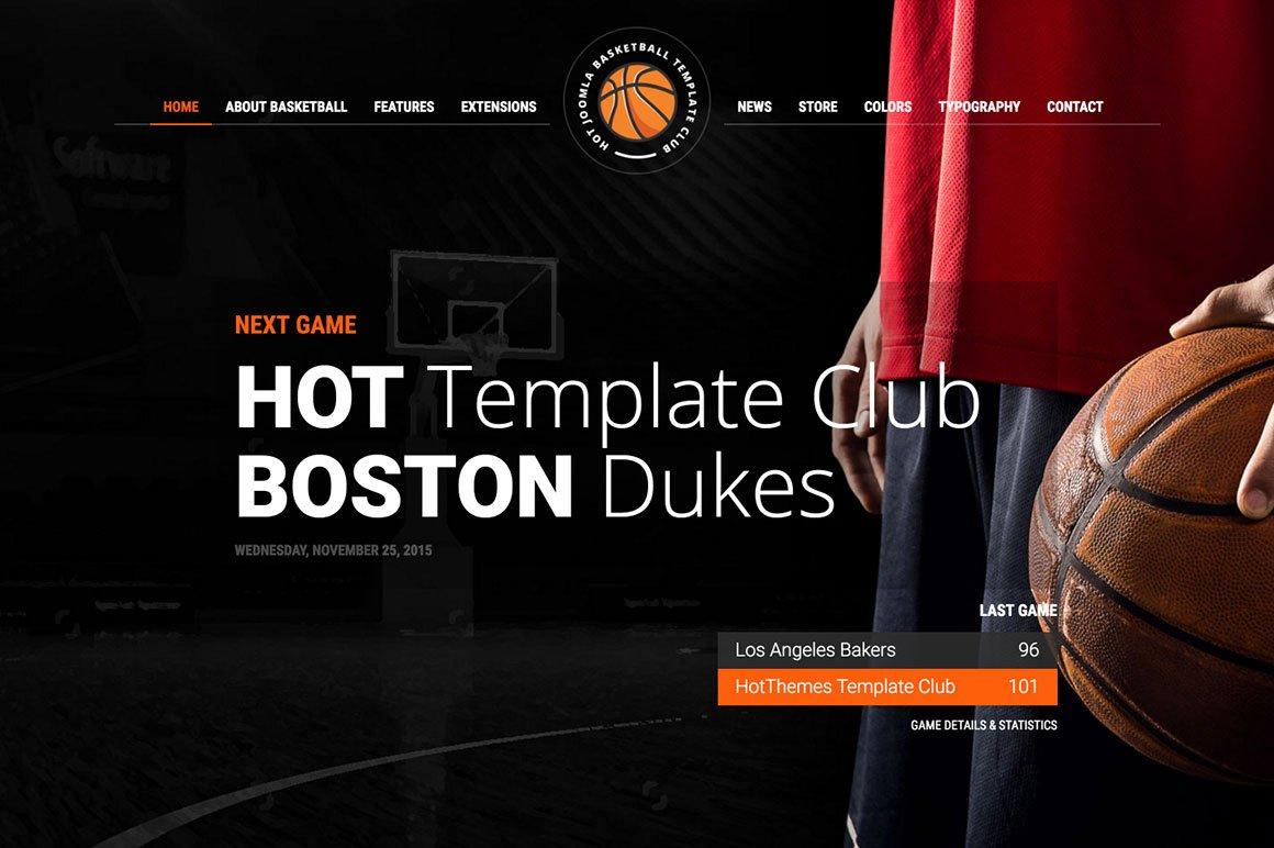 basketball tournament program template - hot basketball joomla themes creative market