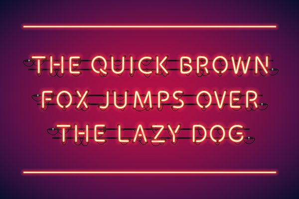 Red Glowing Neon Type
