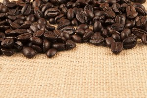 coffee beans hot
