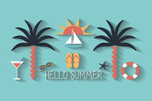 "Summer background ""Hello Summer"""