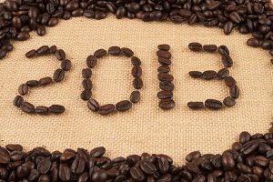 2013 with coffee beans