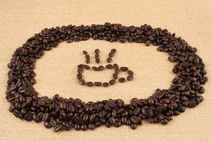 coffee symbol arranged