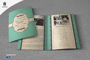 Vintage Style Funeral Template
