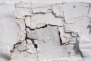 White Damaged Wall