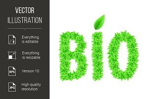 Green bio text.