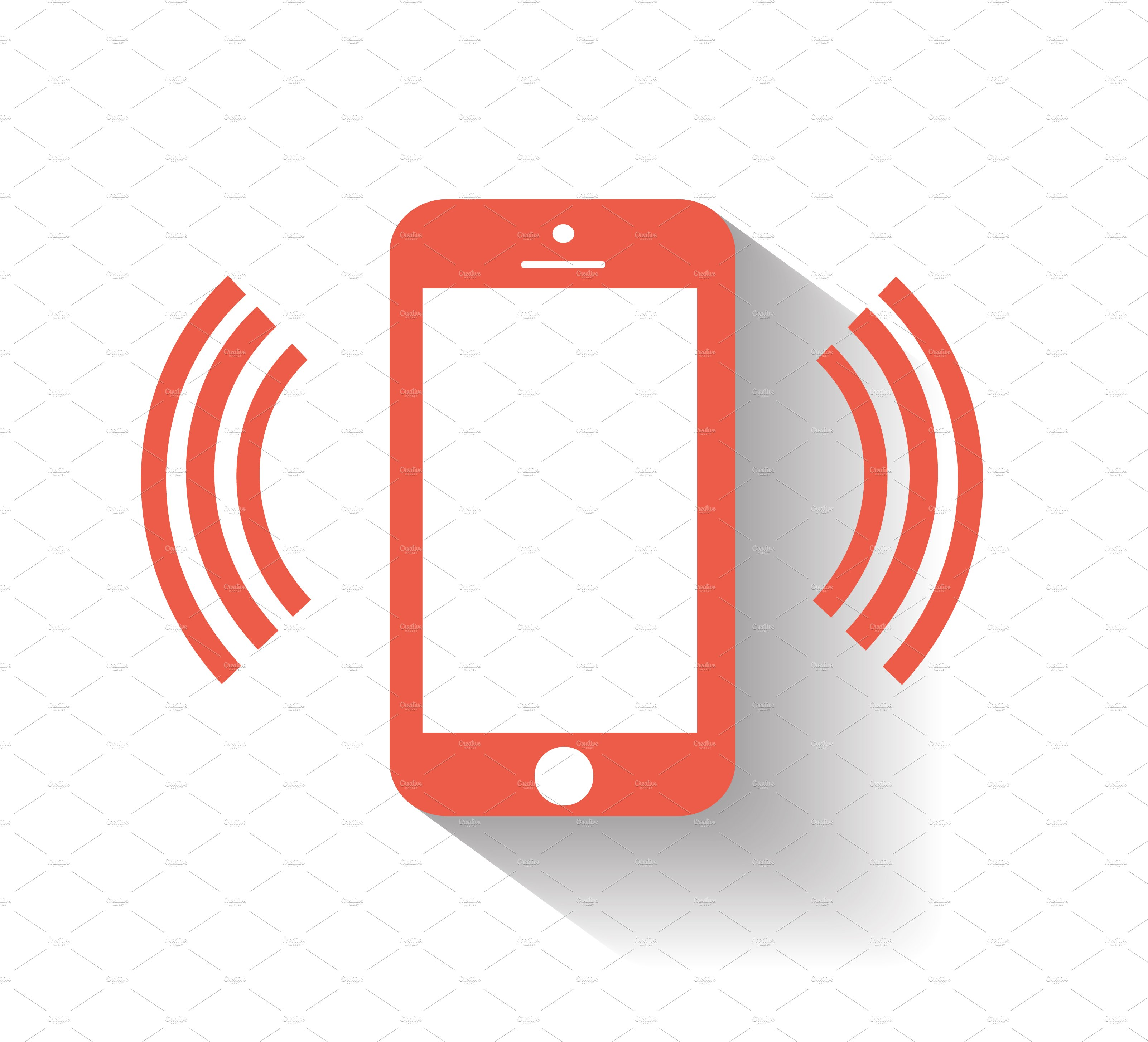 Smartphone icon with wifi red icons creative market for Logo mobile