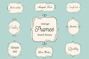 Hand drawn vintage frames