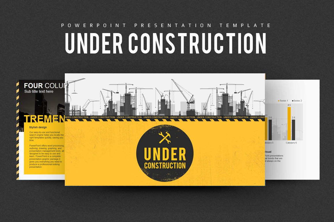 Construction powerpoint presentation presentation templates under construction powerpoint alramifo Images