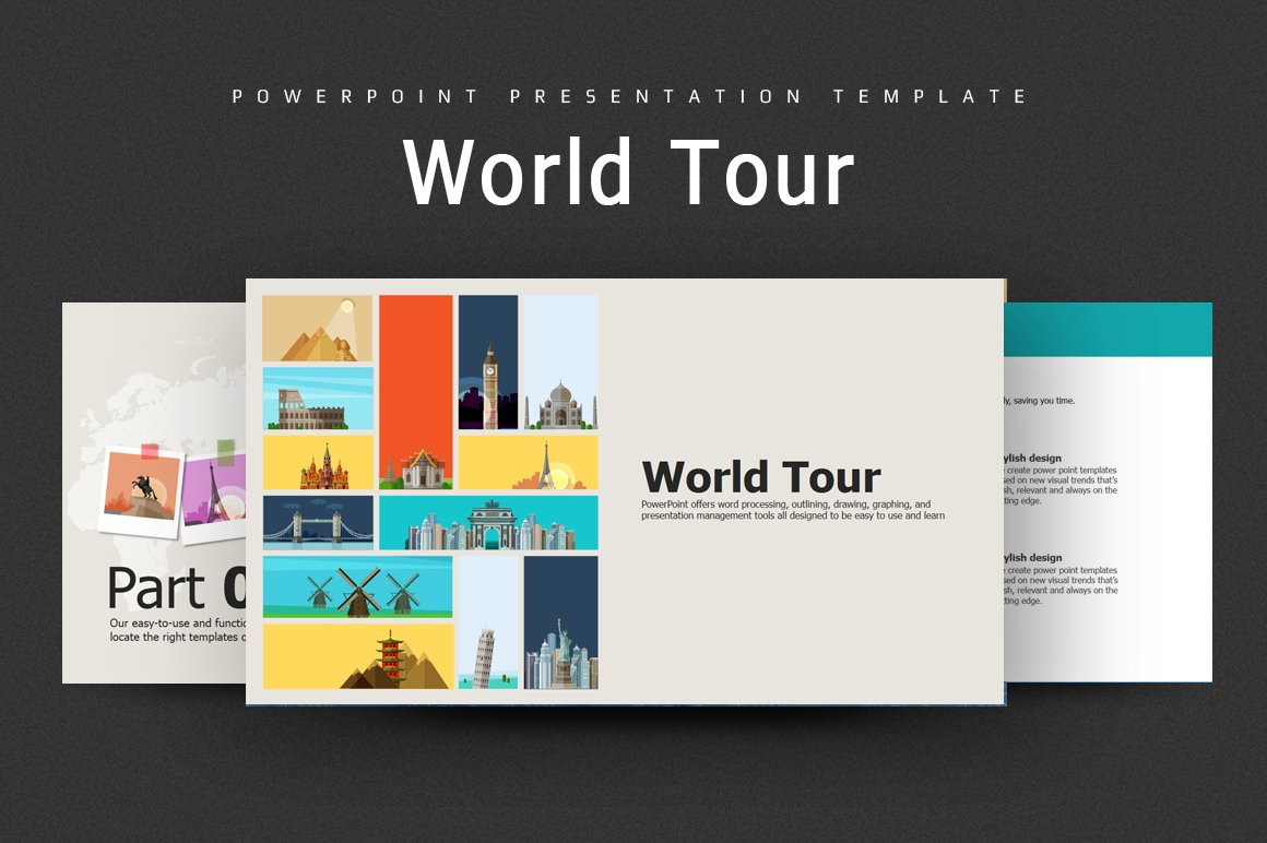 World Tour Powerpoint Template Presentation Templates Creative