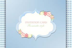 invitation card  shabby chic