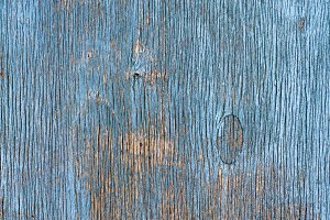 Blue Painted Wood